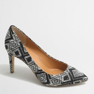 J. Crew ikat 'Isabelle' black and white pumps